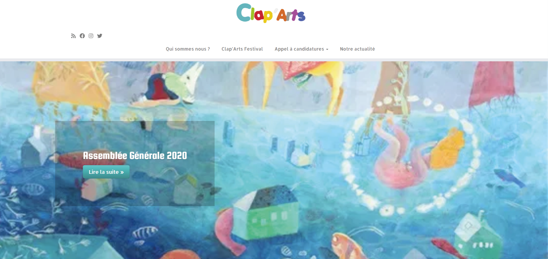 claparts site association - Clap'Arts, site vitrine
