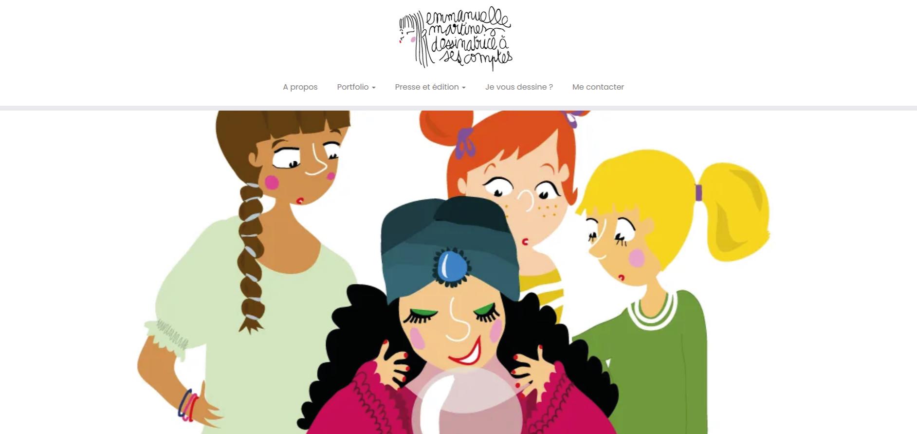 site illustratrice emmanuelle martinez - Book d'illustrations